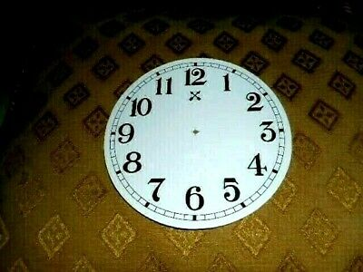 """Round HAC Paper (Card) Clock Dial - 5"""" MINUTE TRACK - Arabic -GLOSS WHITE-Parts"""