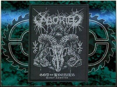 ABORTED - God Of Nothing PATCH NEW, Death Metal, BLOOD MORTIZED