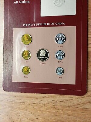 Coin Sets Of All Nations China Proof Set ALL 1983 Jiao 1 Yuan Fen Franklin Mint