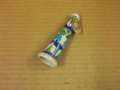 Vintage Ceramic Handmade/Handpainted  Indian Chillum / Hookah Pipe Collectible