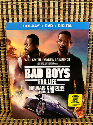 Bad Boys For Life (2-Disc Blu-ray/DVD,2020)+Slipcover.Will Smith/Lawrence.Part 3