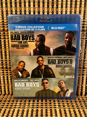 Bad Boys Trilogy (3-Disc Blu-ray, 2020)Will Smith/Martin Lawrence.II/For Life