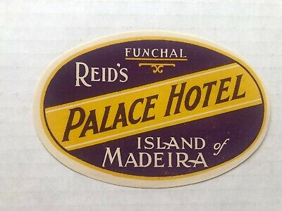 Vintage 1940's Reid's Palace Hotel Funchal Madeira  Luggage / Baggage Label