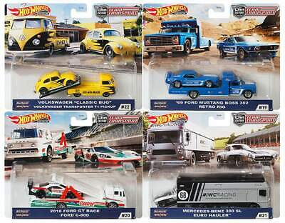 Hot Wheels 1:64 -  2020 Car Culture Team Transport Case H Set of 4 Sealed Case