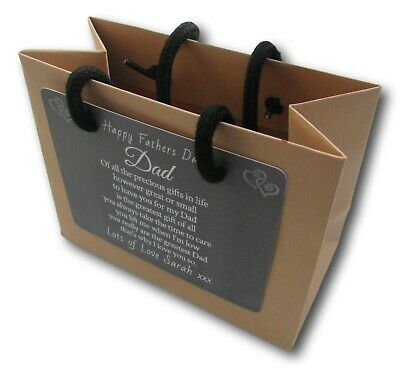 Fathers Day Personalised Kraft Luxury Gift Bag /
