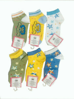 6 Pairs of Kids Boys Girls Socks Size 6 - 8 Multiple Styles