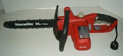 """Homelite UT43104 14/"""" Inch Electric Chainsaw GR"""