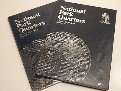 Whitman National Park Quarters Coin Folders Books 1 and 2 2010 -2021 albums