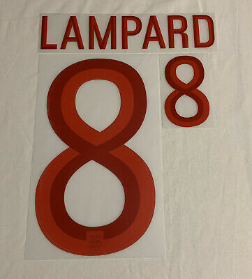 England Frank Lampard 8 Home Football Print 2012/13 Adults Sporting ID