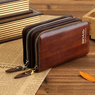 Fashion Faux Leather Car Key Chain Ring Keychain Case Holder Zipped Bag ONE