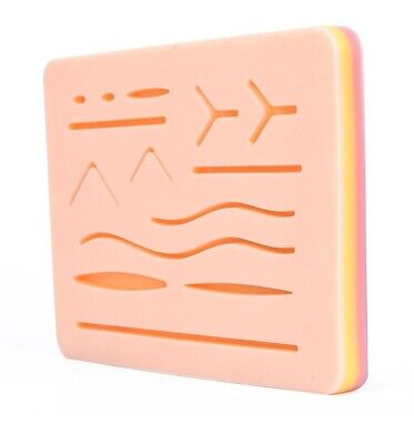 Medical Skin Suture Practice Silicone Pad Wound Simulated Surgical Training Kit