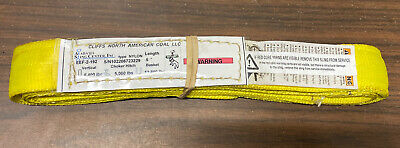 """Industrial Nylon Strap~5'~1.75"""" Wide~12,800 Pound Capacity Basket~Double Loop"""
