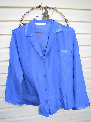 Women's victoria secret sleepshirt.  Blue, button up.  Size L ?