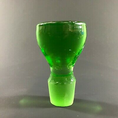 Vintage Green Pressed Glass Art Glass Decanter Replacement Bottle Stopper