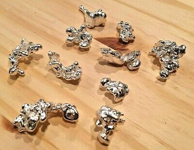 2 Troy Oz Of .999 Fine Silver Nuggets Bullion Shot Free Shipping! One Of A Kind!