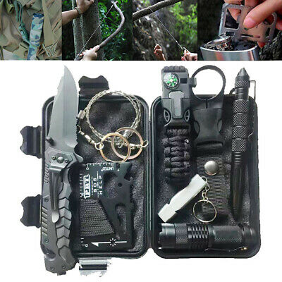 9 in 1 Outdoor Emergency Survival Kit Military First Aid SOS EDC Tool Sets