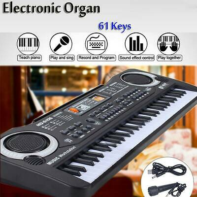 Adult / Kids 61keys Digital Musical Electronic Keyboard Piano Full Size With Mic