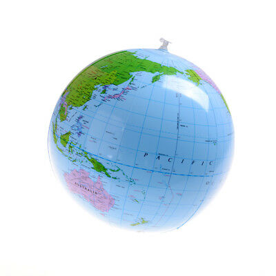 "Inflatable Blow Up World Globe 16"" Earth Atlas Ball Map Geography Toy HFUK"