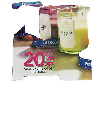 Bath & Body Works Coupon 20 % Off Online Purchase Only - 1x Use Exp. August 8