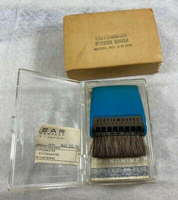 "Nuclear STATICMASTER Brush for Records 3"" 3r500 in box with instructions 1964"
