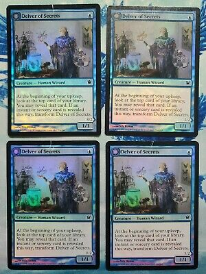 Foil Innistrad English MTG M Delver of Secrets //// Insectile Aberration MP