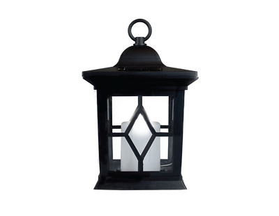 Hanging Solar Lantern. Powered Hanging Candle Lanterns/Lamp/Coach Light Outdoor