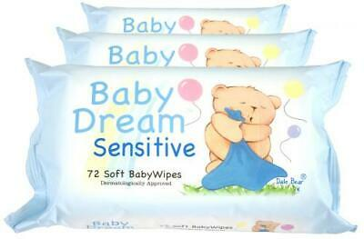 864 Soft Baby Dream Wipes Sensitive Fragrance Paraben & Alcohol Free 12 x 72