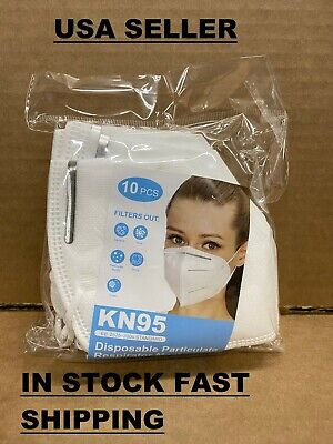 10 Pieces Protective KN95 Disposable Particulate Respirator Face Mask NEW SEALED