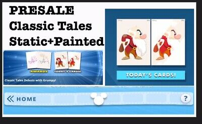 Presale: Classic Tales Set-Painted Motion+Static-8 Cards-Topps Disney Collect