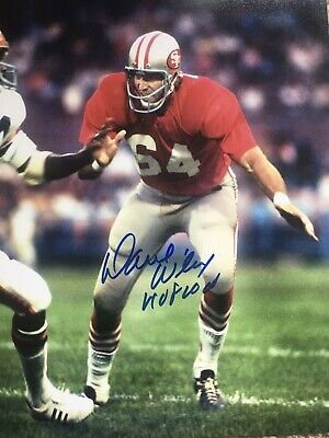 DAVE WILCOX SAN FRANCISCO 49ERS LIMITED EDITION  AUTOGRAPHED GOAL LINE ART CARD