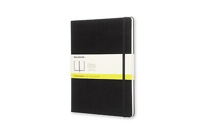 Moleskine - Classic Hard Cover Notebook - Plain - Extra Large - Black