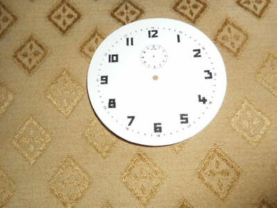 """Round Alarm Paper (Card) Clock Dial - 2 3/4"""" MINUTE TRACK- Arabic- White - Parts"""