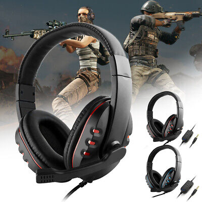Gaming Headset Stereo Surround Wired Headphone 3.5mm Mic For PS4 Xbox one Laptop