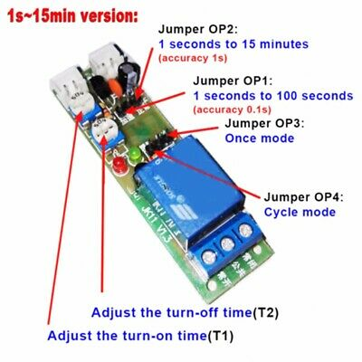 DC 5V/12V/24V Infinite Loop Cycle Timing Timer Time Delay Relay ON OFF Module