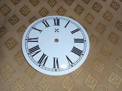 """Round HAC Paper (Card) Clock Dial - 5"""" MINUTE TRACK -  Roman-GLOSS WHITE - Parts"""