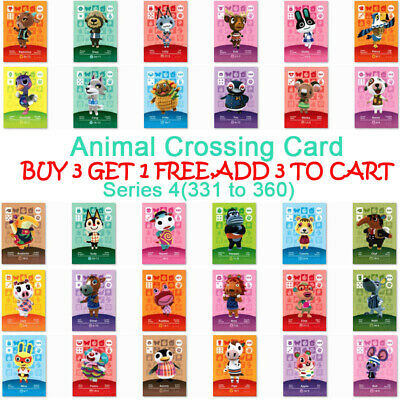 ANIMAL CROSSING AMIIBO SERIES 4 CARDS for NS Switch Games ALL CARDS 330--370