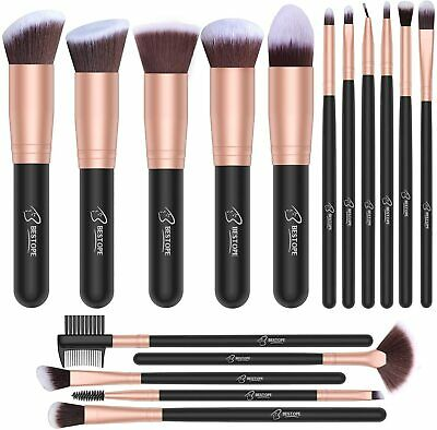 Set de brochas, set de pinceles maquillaje profesional 16 piezas set Rose Golden