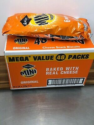 Jacob's Mini Cheddars 48 X 25g Cheese Biscuits , Savoury Snack Crackers