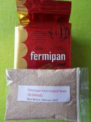 50g Fermipan Instant Dried Yeast Baker Bakery Baking Bread Dough Yeast Catering