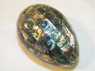Vintage Abalone Shell Inlaid Egg