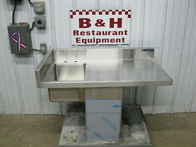 """42"""" Heavy Duty Drop In Stainless Steel Cabinet Table One 1 Bowl Prep Hand Sink"""