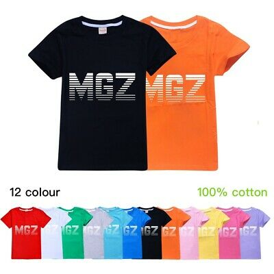 Kids Children MGZ Casual Short Sleeve T-Shirt 100% Cotton Boys Girls Tee Tops UK