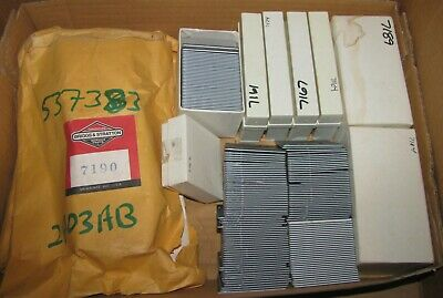 1970's BRIGGS & STRATTON ENGINE MOTOR DEALER TRAINING 35mm SLIDES LOT 200+