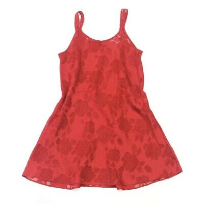 Oscar de la Renta Sheer Rose Red Slip Dress Size Small Lingerie Spring