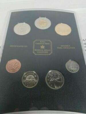 OH CANADA 2001 UNCIRCULATED COIN SET ROYAL CANADIAN MINT RCM COMMEMORATIVE SEALD