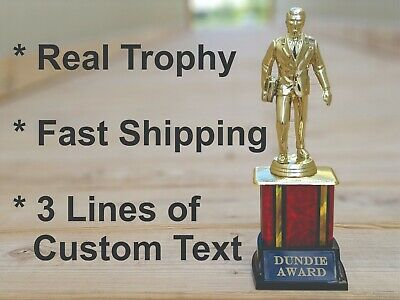 Dundie Award Trophy The Office TV Show Michael Scott Dundee Custom Engraved Tag