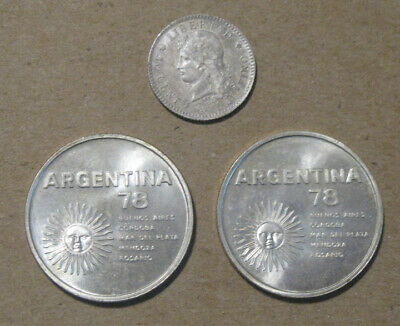 Argentina - (3) Silver Coins (1883 & 1978) - Nice