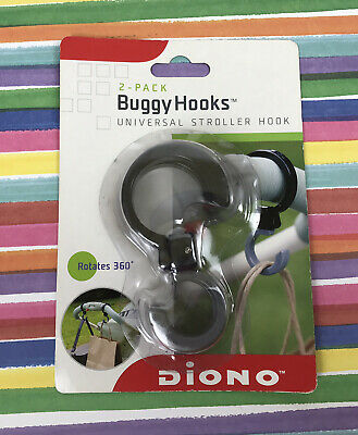 Diogo 2 Pack Buggy Hook Universal Stroller Hook Rotates 360' NEW