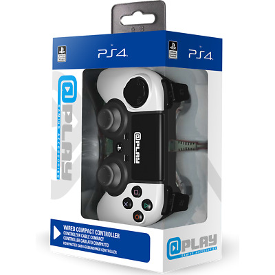 @play PlayStation 4 Wired Compact Controller -  WHITE- Brand New & Sealed