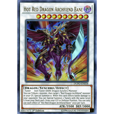 Yugioh Hot Red Dragon Archfiend Bane Ultra DUPO 1st Ed Mint